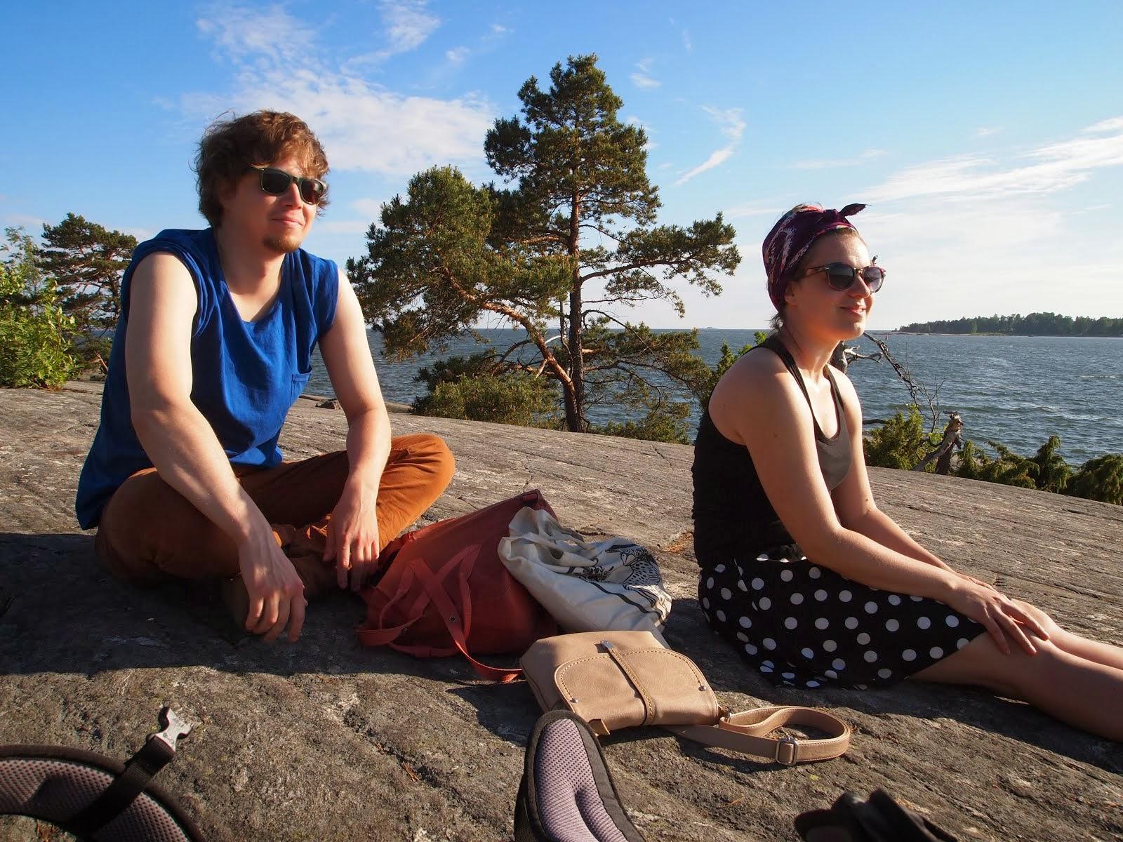 To jsem já a Simo v létě v Helsinkách. Léto by tu mělo být rozhodně delší!