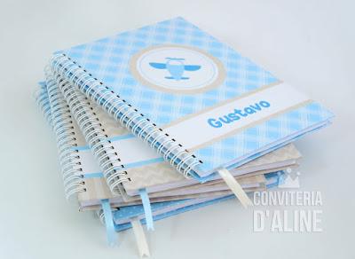 caderno bebê maternidade personalizado