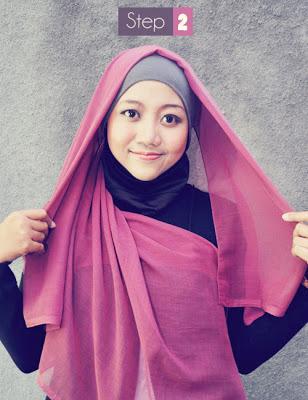 Cara+memakai+Hijab+Kerudung+Segiempat3 Cara Memakai Hijab Kerudung Segiempat