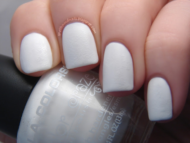 nails nailart nail art polish mani manicure Spellbound Lacquer ABC Challenge Y is for Cracked Eggs and Dripping Yolk texture sponge L.A. LA Colors White NYC New York Color Matte Me Crazy Sally Hansen Lightening Sun Kissed Seche Vite
