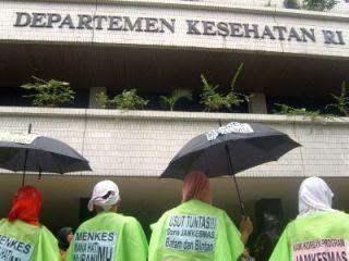demo di departemen kesehatan
