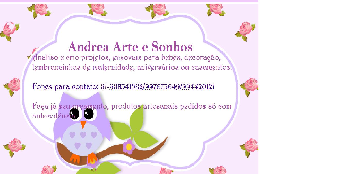 ANDRÉA em ARTEESONHOS