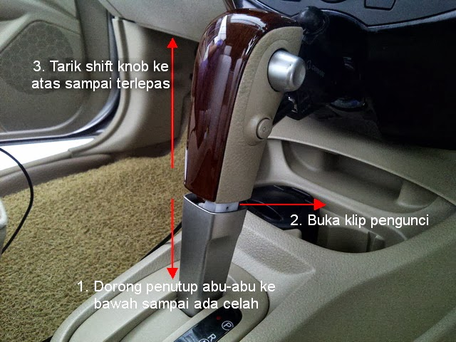 DIY : Melepas shift knop Grand Livina matic {515635} | newbie belajar ...