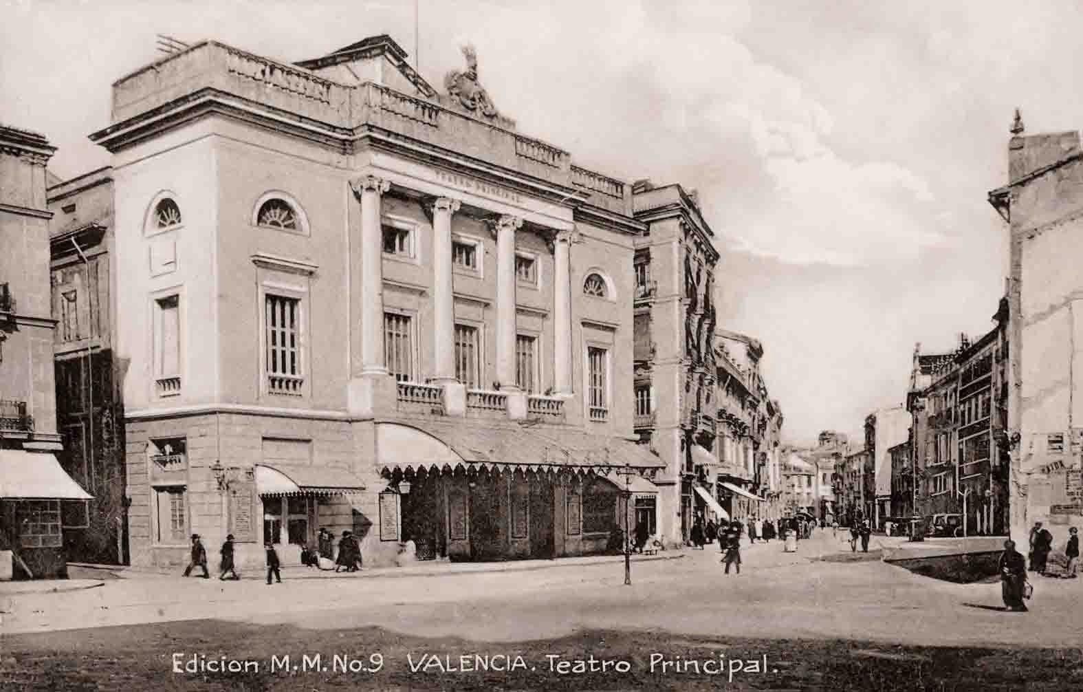 Postales de valencia teatro principal for Teatro principal valencia