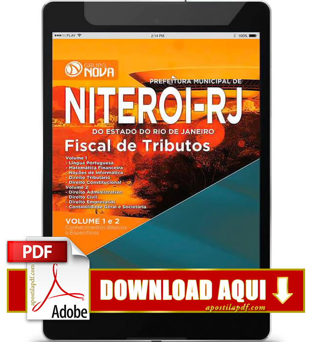 Apostila Prefeitura de Niterói RJ 2015 PDF Download Fiscal de Tributos