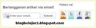membuat dan memasang widget berlangganan artikel blog