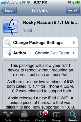 rocky racoon iphone cydia
