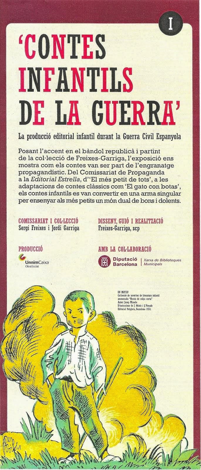 EXPOSICIÓ CONTES INFANTILS DE LA GUERRA