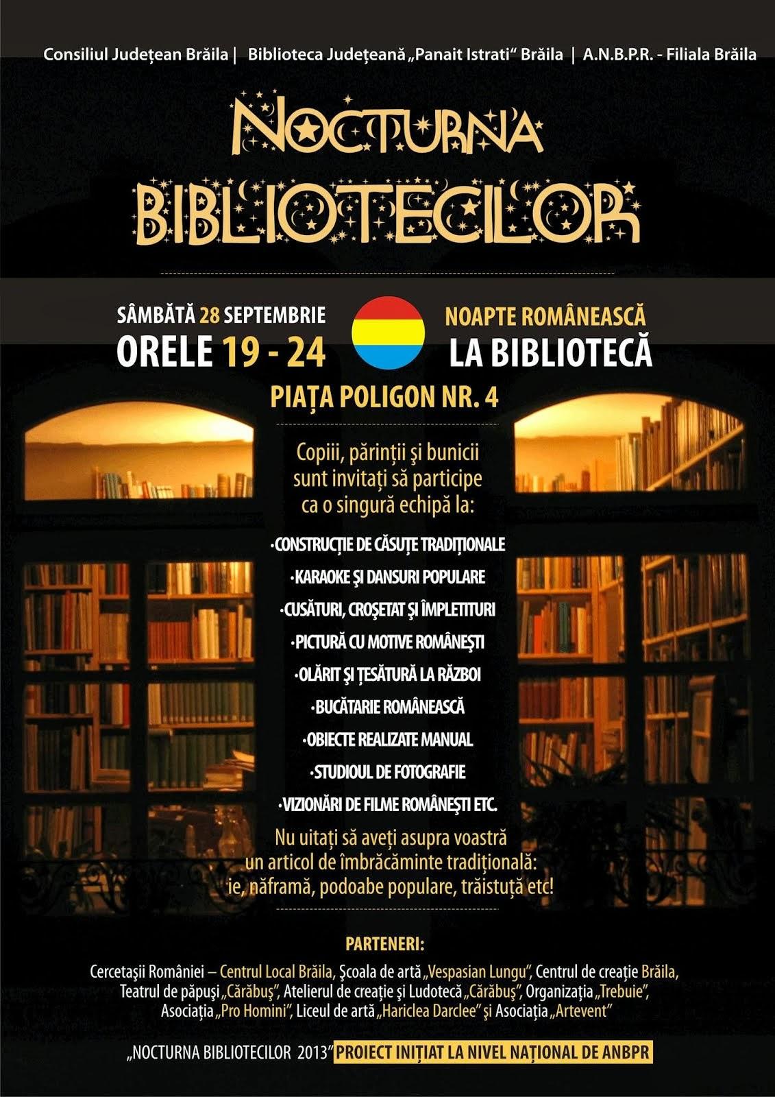 Nocturna Bibliotecilor 2013