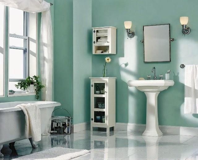 small bathroom wall painting ideas