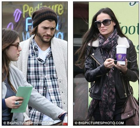 ashton kutcher and demi moore daughter. Family affair: Ashton Kutcher