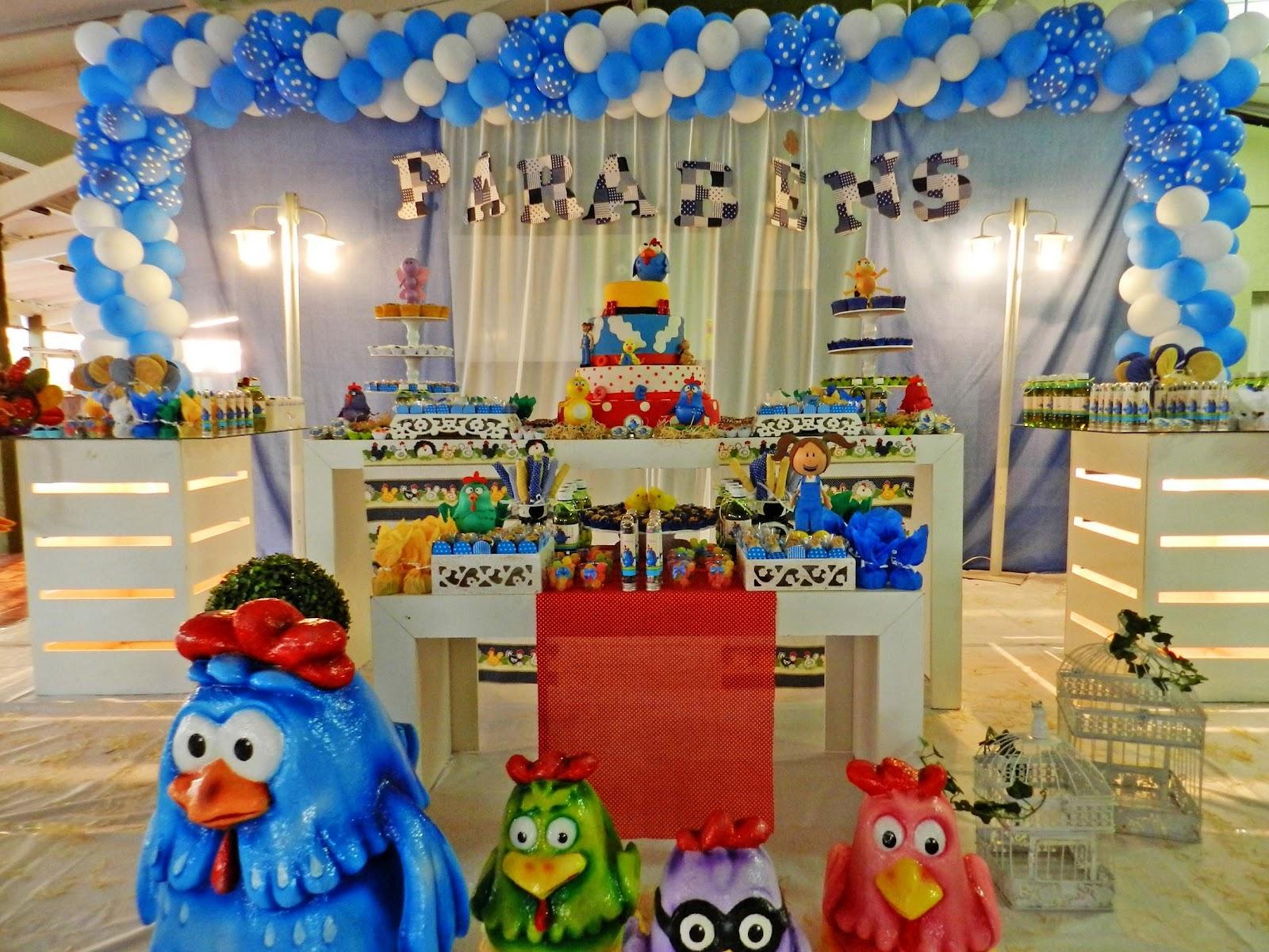 Agora n s somos festeirah decor galinha pintadinha for Agora decoration