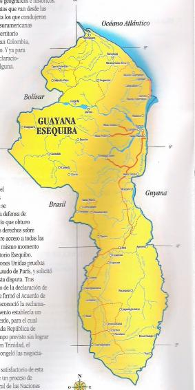GUYANA ESEQUIBA  (zona de reclamacion venezolana)