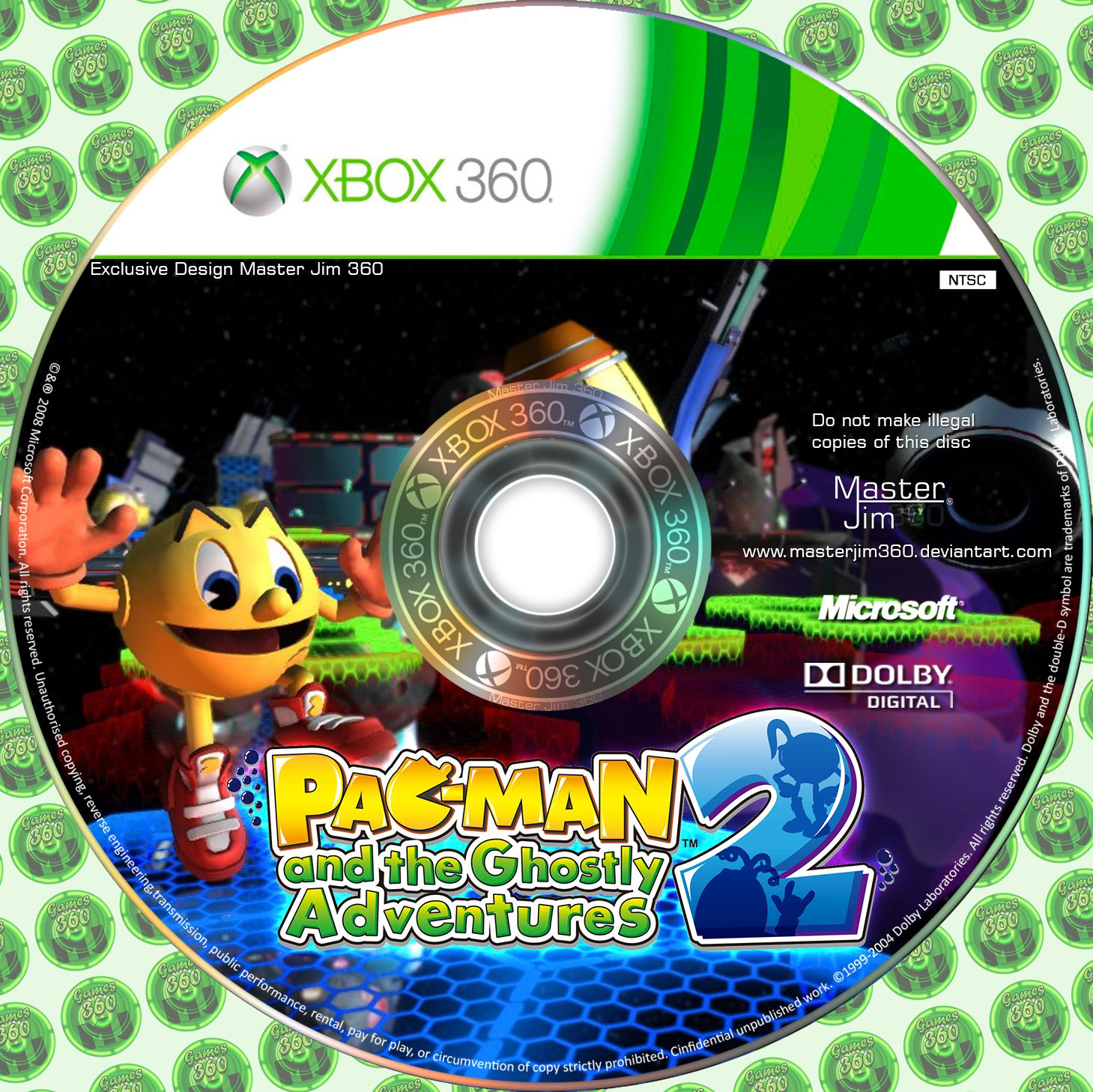 Label Pac Man And The Ghostly Adventures Xbox 360