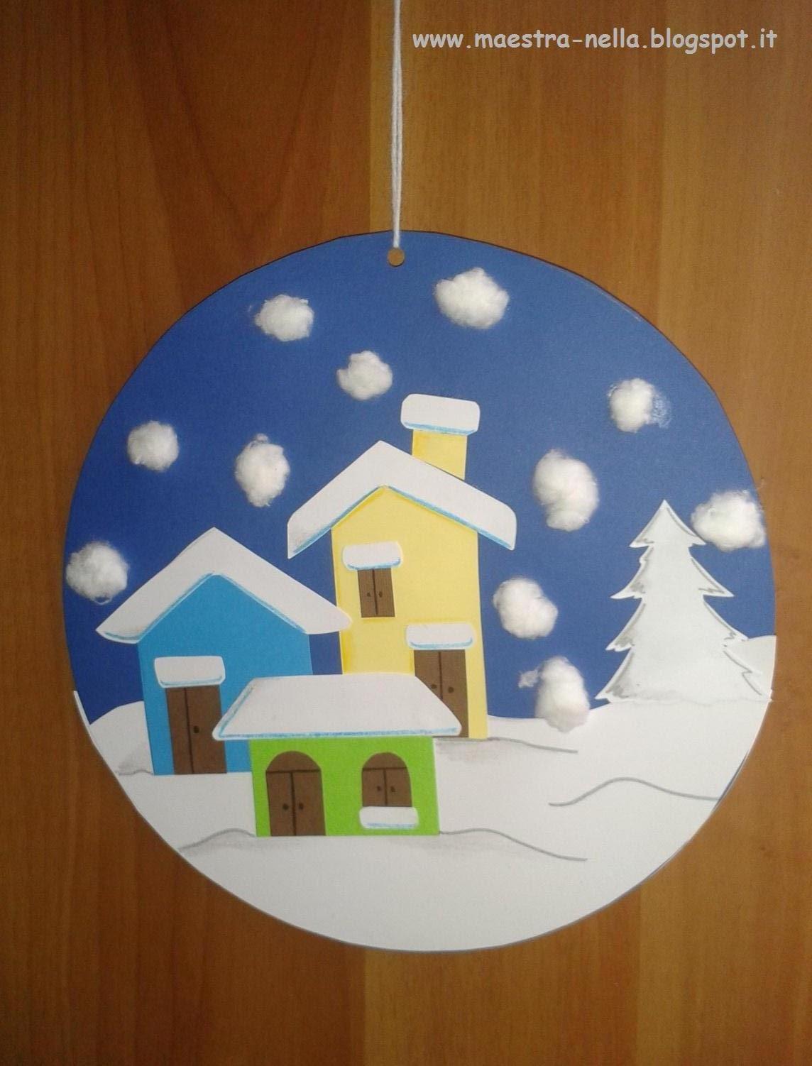 Maestra nella addobbi invernali for Addobbi di natale per bambini scuola infanzia