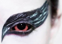 Black Swan Contact Lenses for Halloween Costumes