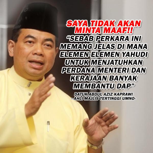"""Saya tidak akan minta maaf pada DAP"" - Abdul Aziz Kaprawi"