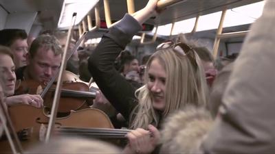 """Copenhagen metro orchestra flash mob"""