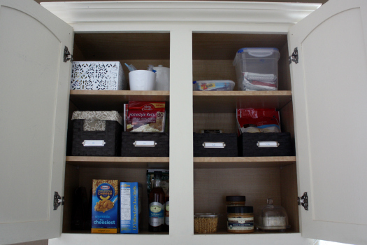 Organize Food In Kitchen Cabinets Iheart organizing its here the kitchen cabinet tour since i am on the shorter side the labeled baskets make it super easy for me to identify the contents and grab down only what i need workwithnaturefo