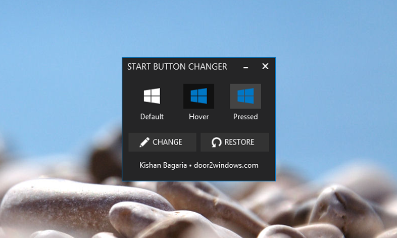 Windows customs windows 8 1 start button changer for Door to windows