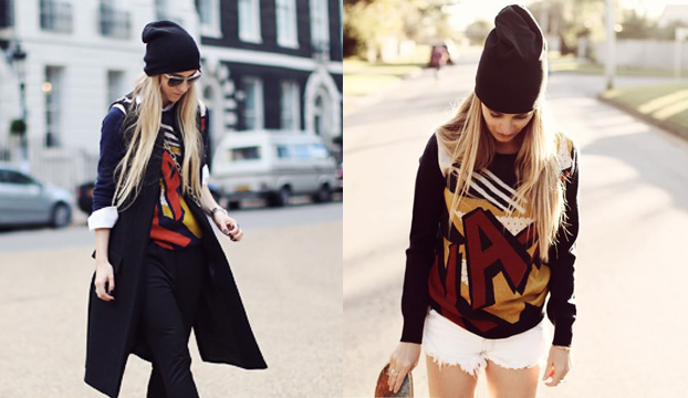 ka-pow sweater + beanie