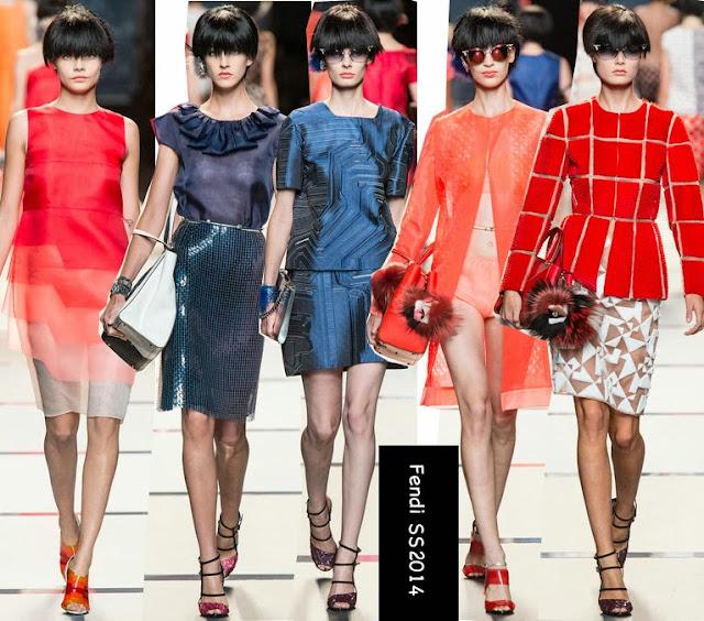 fendi spring 2014 organza dresses