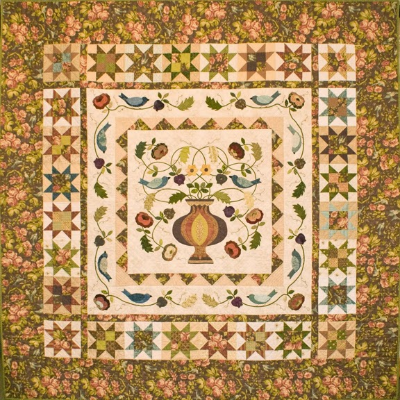 Barbara Brackman S Material Culture Morris Flowerpot Design