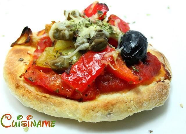 Cuisiname mini pizzas vegetarianas recetas light for Blogs cocina vegetariana
