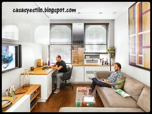 Como decorar departamentos peque os casas y estilo for Como decorar mi departamento pequeno