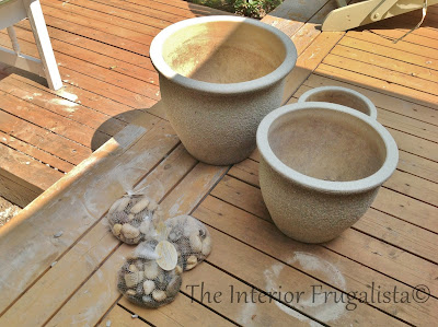 Using three plant pots to build a water feature