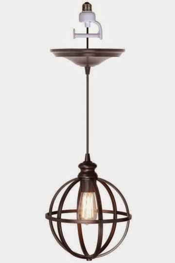 black iron bronze orb pendant light kit