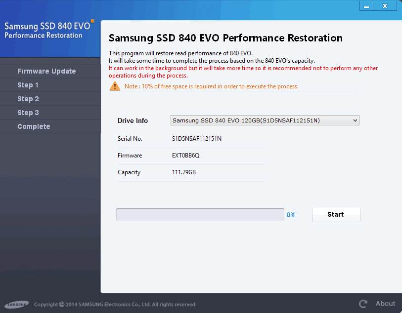 Samsung Performance Restoration