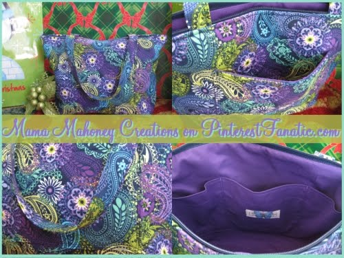 Mama Mahoney Creations, Quilted Purse, Inspiration Tote, Purse