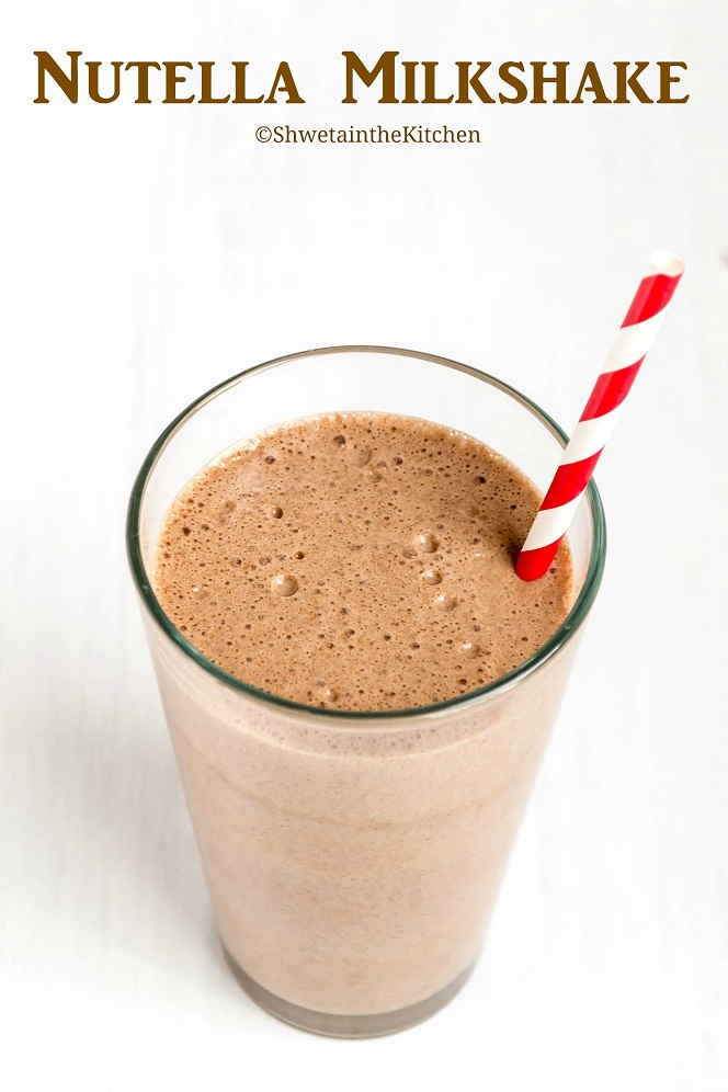 Shweta in the Kitchen: TCBY Frozen Yogurt Nutella Milkshake
