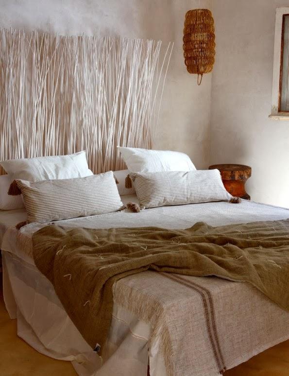 textiles para cama de lino