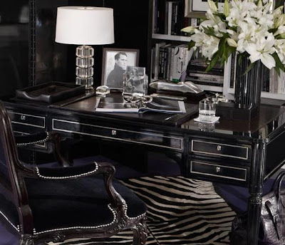 lush fab glam blogazine luxurious in black home design On ralph lauren office furniture