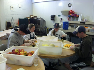 SBA Phoenix prepares fruit for dinner