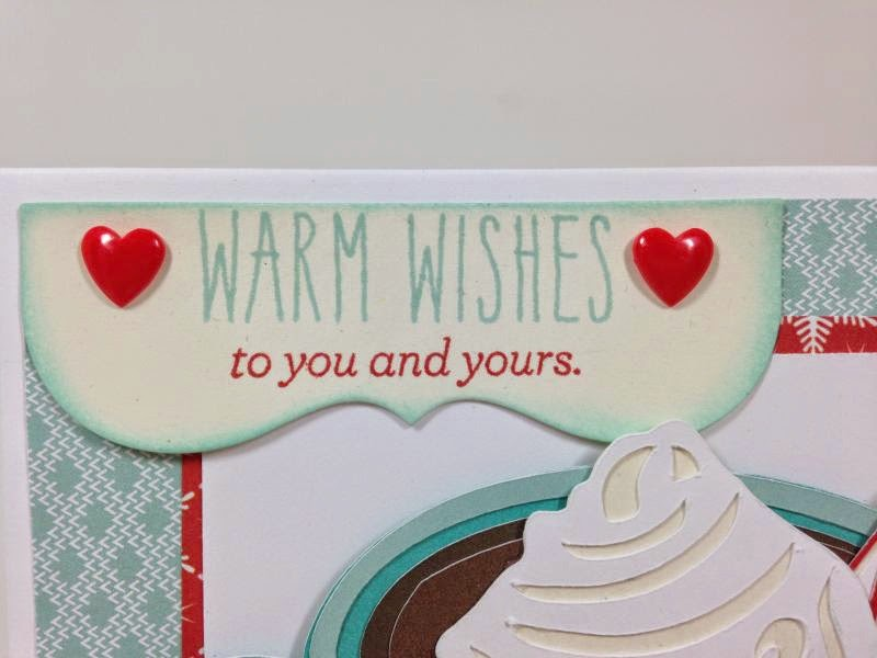 Warm Wishes Cricut Explore SVG card closeup