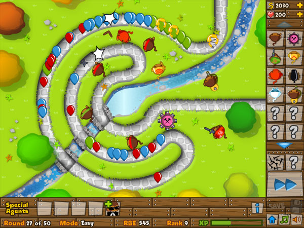 bloons tower defense 5 how to get monkey sub