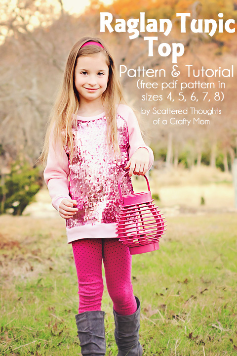 Sewing Patterns Tunic Tops Sew a Raglan-style Tunic Top