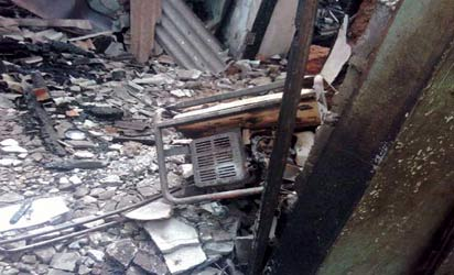 generator explosion kills man children