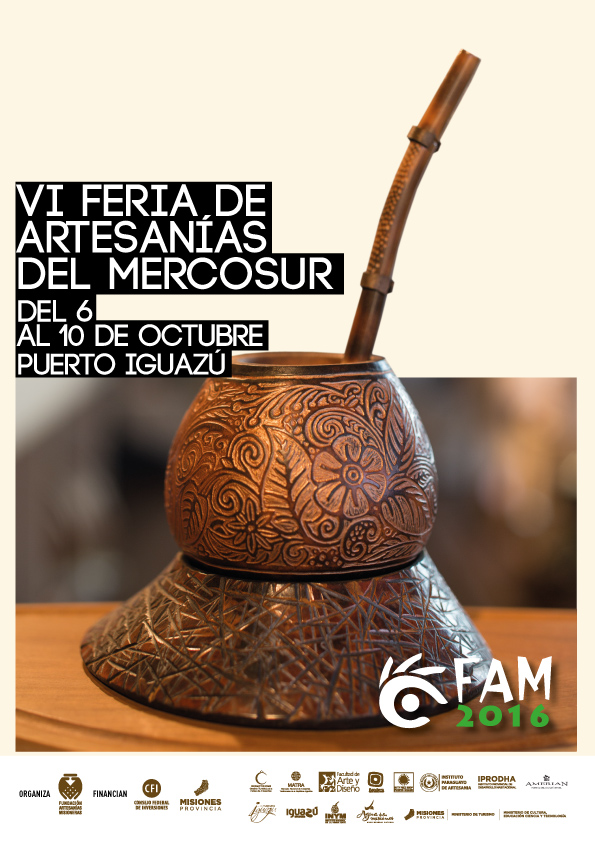 VI Feria de Artesanías del MERCOSUR del 6 al 10 de Octubre en Puerto Iguazu