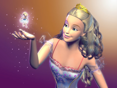 Barbie as beautiful Clara and Fairy in Barbie movie Nutcracker