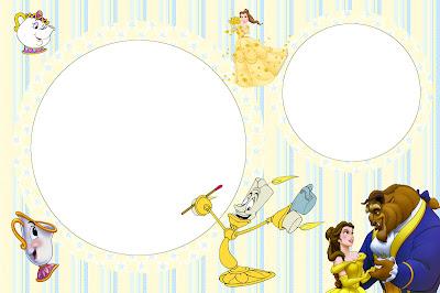 Imprimibles de la Bella y la Bestia. Fiestas infantiles.|Ideas ...