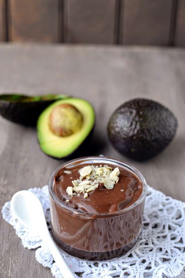 Banana Avocado Chocolate Pudding using Sunwarrior Protein Powder