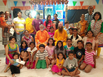 Bhagavad Gita class led by Jagadguru Kripalu ji Maharaj disciple at Pasadena Hindu Temple