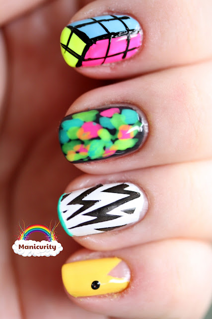 Manicurity: BFF Challenge - 80s nails