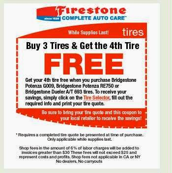 Free Printable Coupons Firestone Coupons