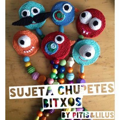SUJETA CHUPETES AMIGURUMI LOS BITXOS BY PITIS&LILUS