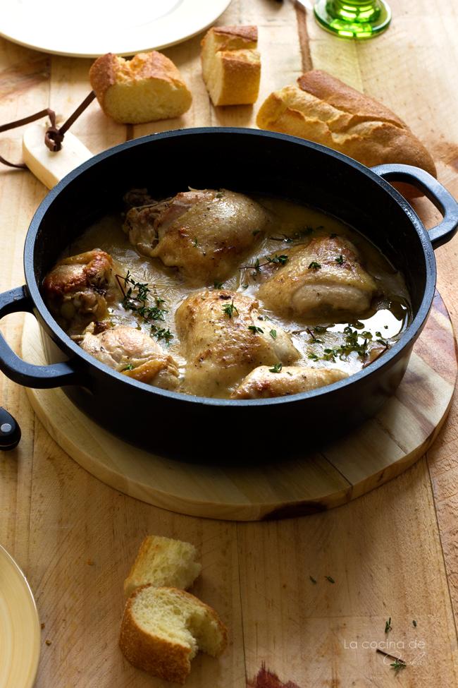 pollo-ajo-tomillo-salsa